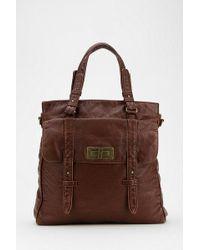 Urban Outfitters Bdg Vegan Leather Turnlock Tote Bag - Lyst