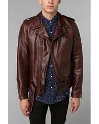 Urban Outfitters - Schott Moto Leather Jacket - Lyst