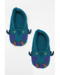 Urban Outfitters Animal Slippersock - Lyst
