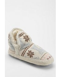 Urban Outfitters Muk Luks Amira Snowday Slippersock Ankle Boot - Lyst