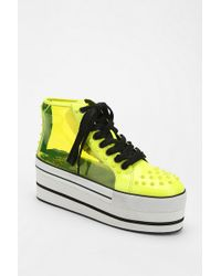 Urban Outfitters - Yru Elevation Transparent Hightop Flatform sneaker - Lyst