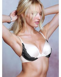 Victoria's Secret Black Pushup Bra - Lyst