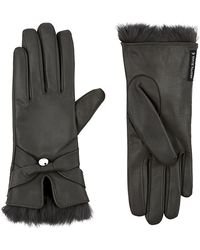 Armani Jeans - Rabbit Fur Trim Gloves - Lyst