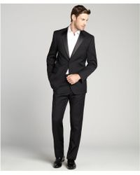 Joseph Abboud Black Wool Twobutton Tuxedo with Flat Front Pants - Lyst