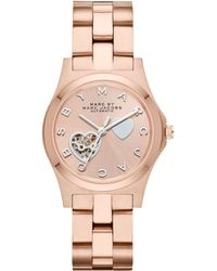 Marc By Marc Jacobs Womens Automatic Henry Rose Goldtone Stainless Steel Bracelet 32mm - Lyst