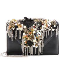 Saint Laurent Betty Borsa Mini Embellished Leather Shoulder Bag - Lyst