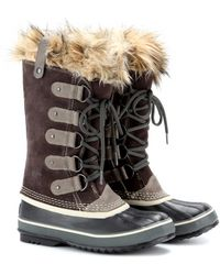 Sorel Joan Of Arctic Premium Suede and Rubber Boots - Lyst