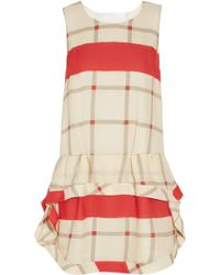 Thakoon Addition - Dropwaist Checked Silk Dress - Lyst