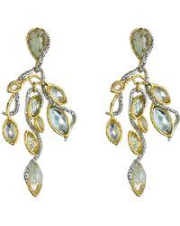 Alexis Bittar Mauritius Gold Rhodium Custom Aqua Vine Post Earrings - Lyst