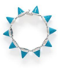 Eddie Borgo Turquoise Cone Bracelet - Lyst