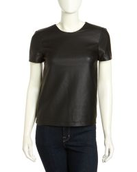 French connection Athena Fauxleather Top - Lyst