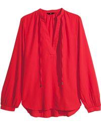 H&M Cotton Blouse - Lyst