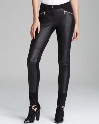 Rebecca Minkoff Pants Avenue Leather and Ponte Moto - Lyst