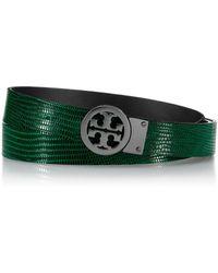 Tory Burch Rotating Logo Belt - Lyst
