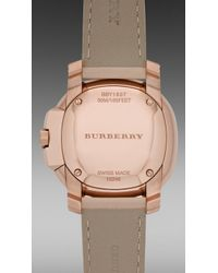 Burberry Brit - The Britain 34mm Diamond Dial - Lyst