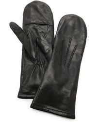 Carolina Amato - Leather Mittens - Black - Lyst