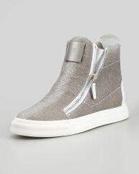 Giuseppe Zanotti Laceless Stingray-Embossed Sneaker - Lyst