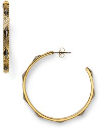 House of Harlow 1960 - Marquis Stud Hoop Earrings - Lyst