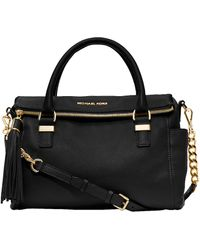 MICHAEL Michael Kors Weston Leather Satchel - Lyst