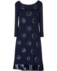 Prada Long Sleeve Crêpe Short Dress - Lyst
