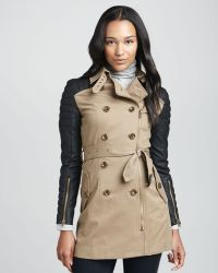 W118 by Walter Baker Motosleeve Combo Trench Coat - Lyst