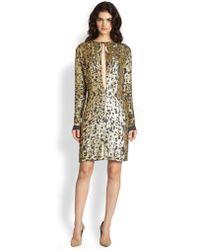 10 Crosby Derek Lam Silk Burnout Sequined Dress - Lyst