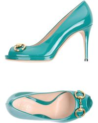 Gucci Pumps with Open Toe green - Lyst