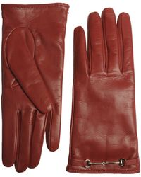 Gucci Gloves red - Lyst