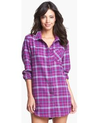 Make + Model Flannel Nightshirt - Lyst