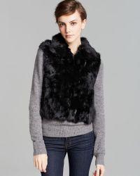 Surell Short Rabbit Fur Vest - Lyst