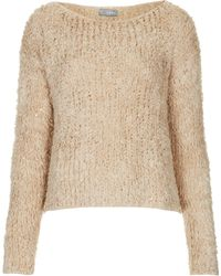 Topshop Shaggy Sequin Knit By Love - Lyst