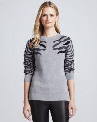 Torn By Ronny Kobo - Shauna Zebrastripe Sweater - Lyst