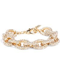Baublebar Mini Pavé Links Bracelet - Lyst