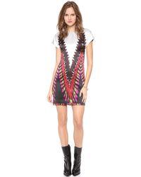 Rodarte - Printed Tie Dye Tshirt Dress - Lyst
