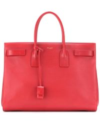 Saint Laurent Sac De Jour Leather Tote - Lyst