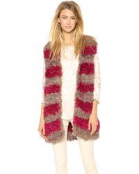 Thakoon Draped Fur Vest - Lyst