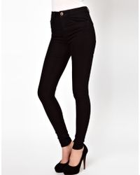 Asos Ridley Skinny Jeans In Clean Black - Lyst