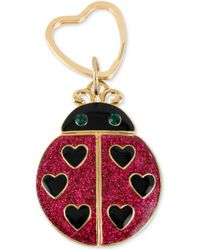 Betsey Johnson Antique Goldtone Glitter Ladybug Key Chain - Lyst