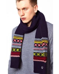 Cheap Monday - Fred Perry Fairisle Scarf - Lyst