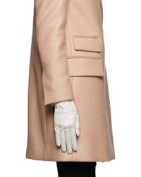 Georges Morand - Floral Perforated Gloves - Lyst