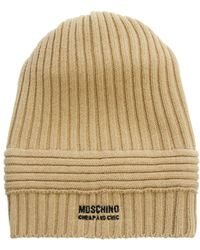 Boutique Moschino - Moschino Cheap and Chic Ribbed Beanie - Lyst