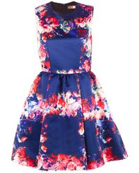 MSGM Flower Dress - Lyst