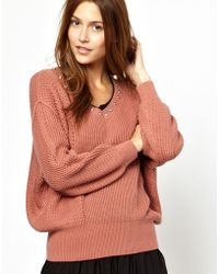 Sonia By Sonia Rykiel Chunky Cashmere Mix Jumper with Studded Neckline - Lyst