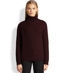 Vince Cableknit Turtleneck Sweater - Lyst