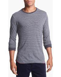Alternative Apparel Feeder Stripe Long Sleeve Crewneck Tshirt - Lyst