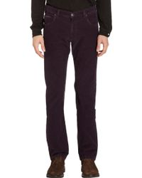 Armani Corduroy Trousers - Lyst