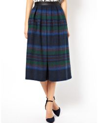 Asos Midi Skirt in Statement Check - Lyst