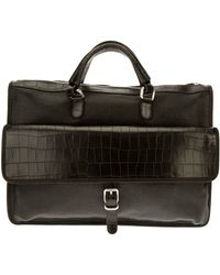 Giorgio Armani - Leather Briefcase - Lyst