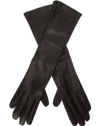 Giorgio Armani - Giorgio Armani Long Leather Gloves - Lyst