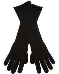 Giorgio Armani - Giorgio Armani Long Wool Gloves - Lyst